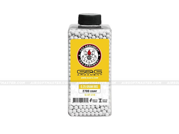 G&G .25g BBs 2700ct Bottle Premium Grade