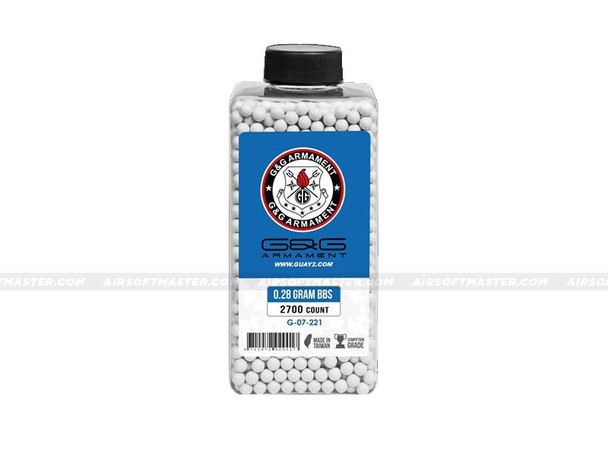 G&G .28g BBs 2700ct Bottle Premium Grade