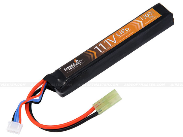 Lancer Tactical 11.1v 1300mAh 20C Lipo Battery Stick