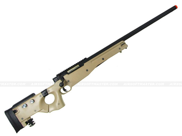 WELL L96 Bolt Action Airsoft Sniper Rifle w/ Folding Stock Tan