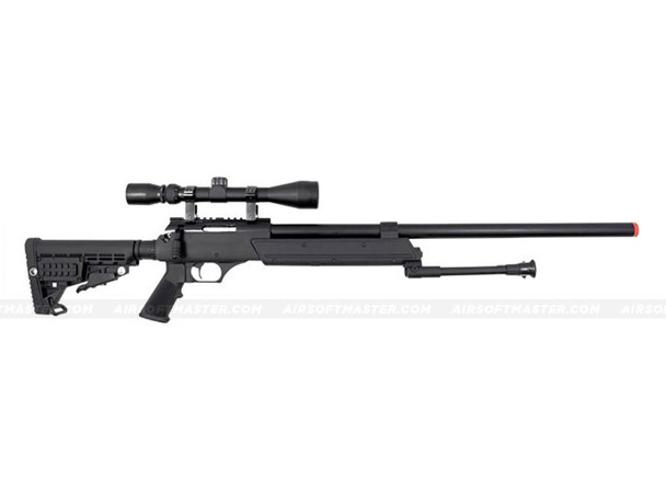 The WELL ASR SR-2 Moduler Single Bolt Action Spring Rifle w/ Scope & Bipod