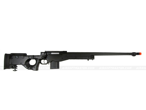 The WELL L96 Single Bolt Action Spring Rifle Black