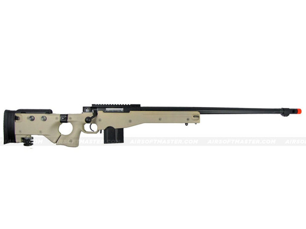 The WELL L96 Single Bolt Action Spring Rifle Tan