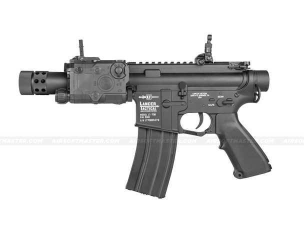 The Lancer Tactical M4 Full Metal Stubby Airsoft Electric Rifle