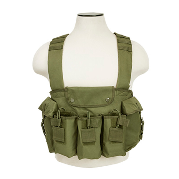 The NcStar CVAKCR2923G AK Chest Rig Olive Drab Green