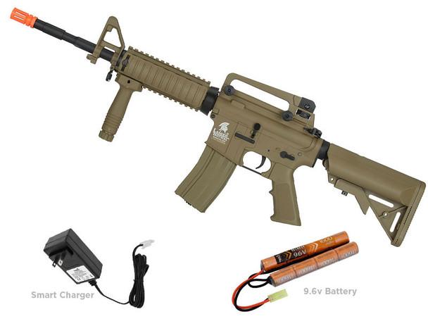 Lancer Tactical LT-04 Gen2 M4 SOPMOD Carbine Airosft Gun Tan