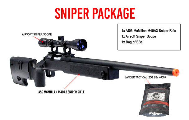 ASG McMillan M40A3 Sniper Package
