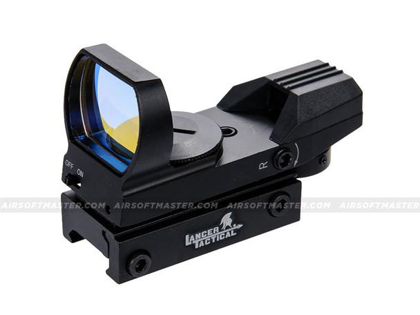 Lancer Tactical CA-401BLC Red Dot Reflex Sight w/ Multi Reticle Black
