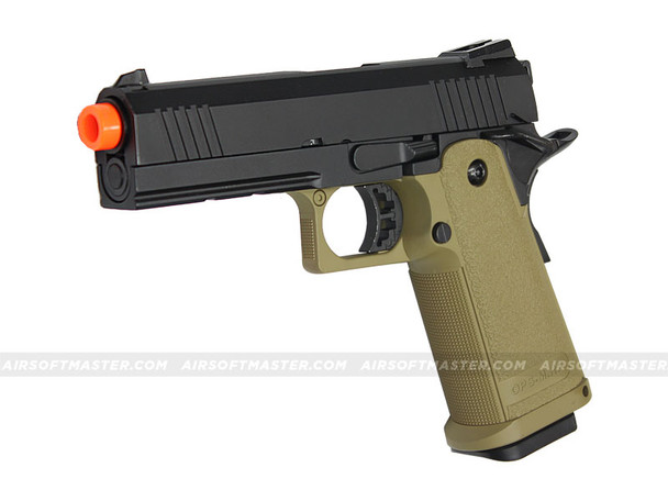 Jag Arms GM4 Hi-Capa 4.3 Gas Blowback Pistol 2-Tone Black/Tan