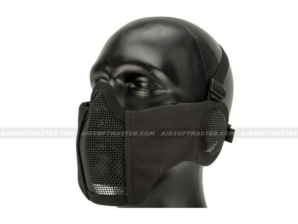 Striker Airsoft Mesh Mask w/ Ear Cover Black