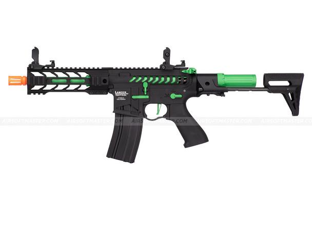 Lancer Tactical PDW Green Skeleton Full Metal Airsoft Gun