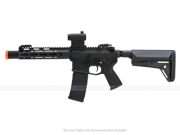 """CYMA M4 QBS 8.5"""" M-Lok Full Metal AEG w/ Suppressor & Mosfet Black"""