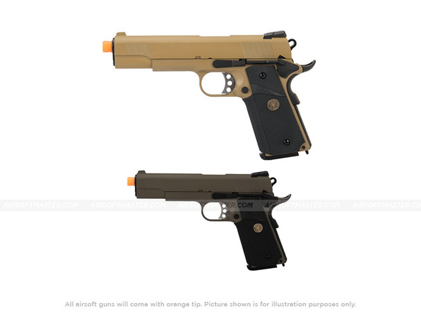 WE Tech 1911 Full Metal MEU Tan and OD Green