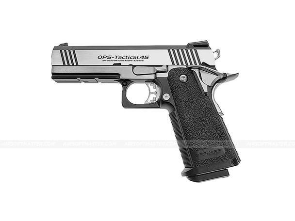 Hi-Capa 4.3 OPS Tactical GBB Pistol Silver