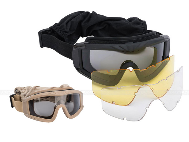 Striker Airsoft Goggles w Clear Lens ANSI Certified