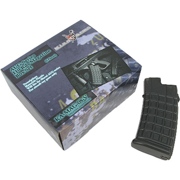 King Arms Steyr Aug 110rd Midcap Magazine - 5pc Set