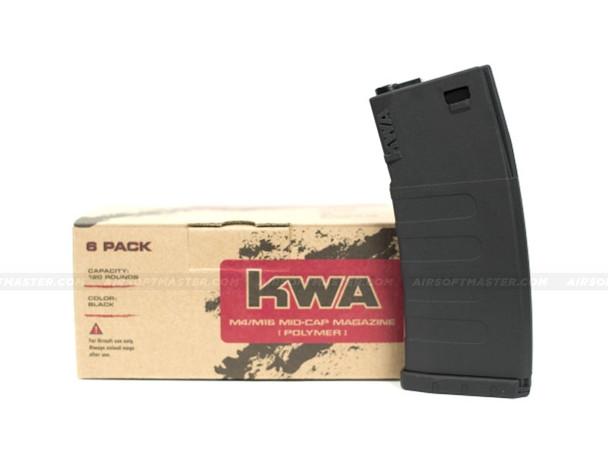 KWA K120 Polymer Midcap Mag 120rd Black - 6pc Set