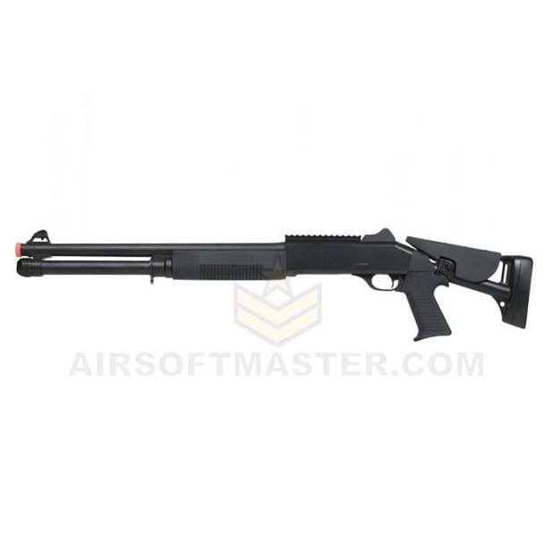 Bravo B28DL 3-Shot Pump Action Shotgun w/ Rail and Retractable Stock