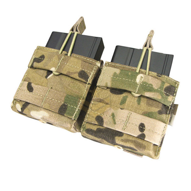 Condor Double M14 Open Top Mag Pouch MultiCam