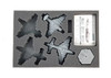 (Aeronautica Imperialis) Marauder Destroyer or Bomber Foam Tray with Unassembled Flight Stands (BFS-1)