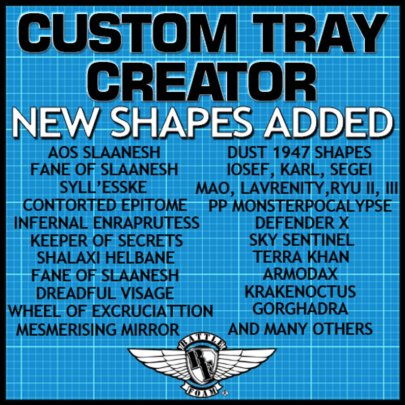 New Shapes Added to the Custom Tray Creator for May