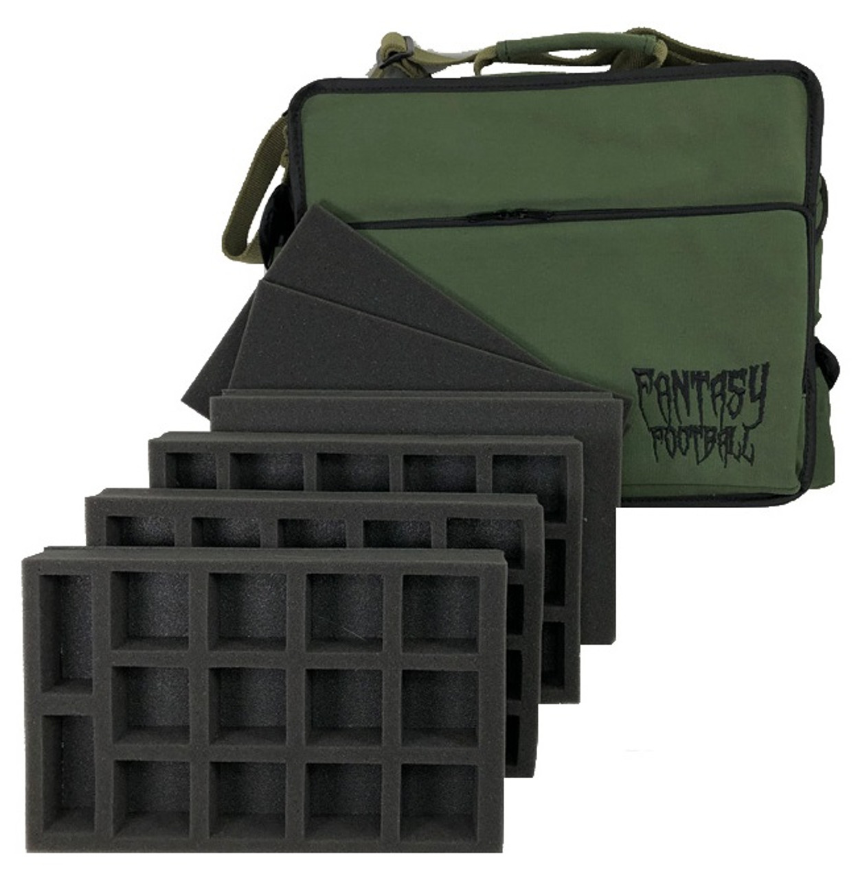 Fantasy Football Bag Standard Load Out Battle Foam Our battlefoam store stocks the entire battlefoam and battlefront miniatures ranges and has sections for p.a.c.k mini trays, battlefoam trays (1.5 inch), malifaux bags, infinity bags, p.a.c.k kits. fantasy football bag standard load out