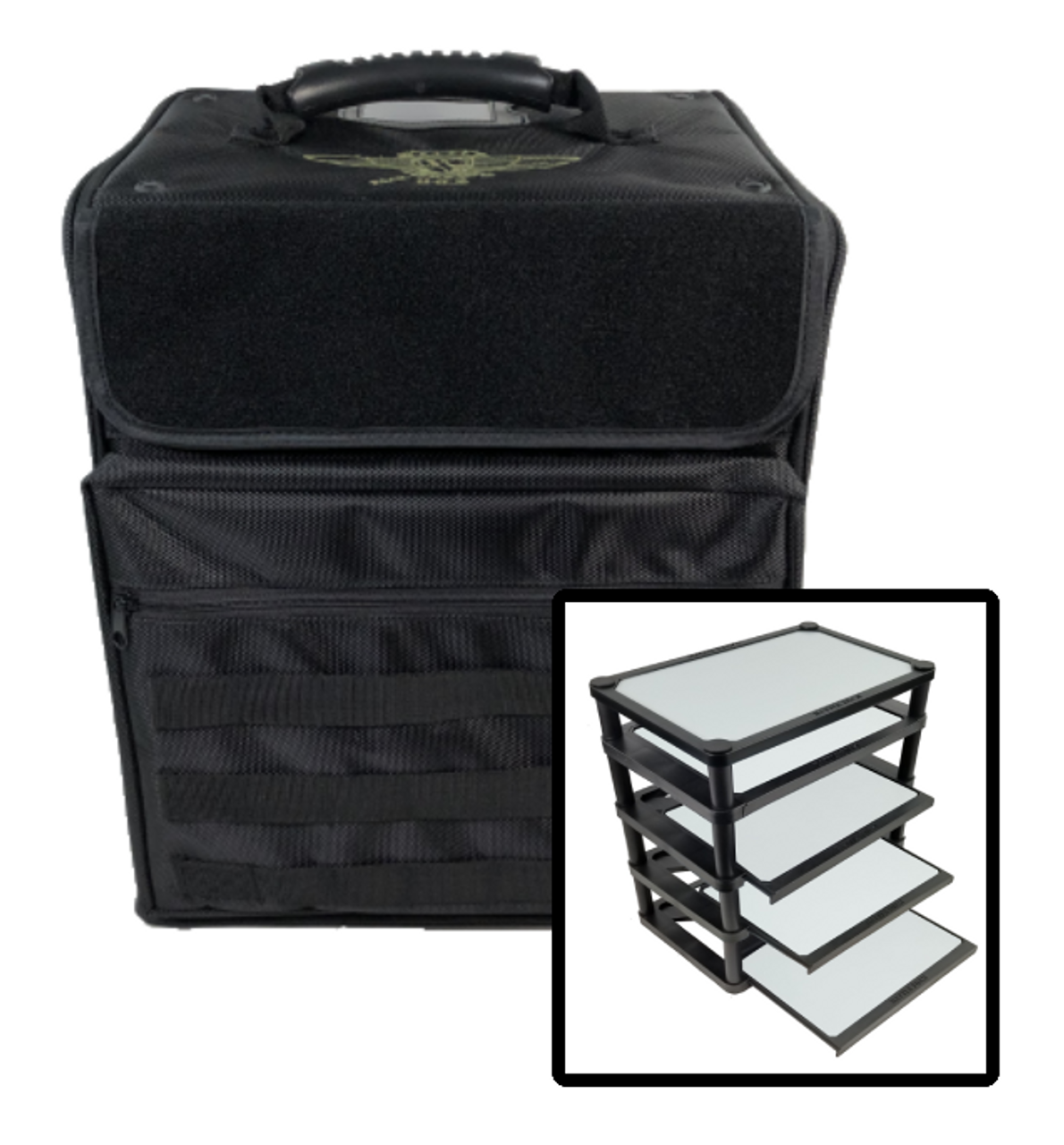 352 P A C K 352 Molle With Magna Rack Sliders Load Out Black Battle Foam The magna rack was designed for those gamers who like to store and transport their miniatures magnetized upright and free from. 352 p a c k 352 molle with magna rack sliders load out black