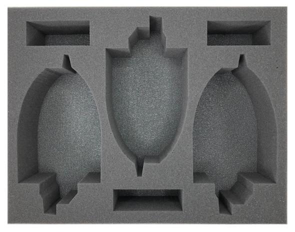 (Eldar) 3 Fire Prism Foam Tray (BFL-3.5)