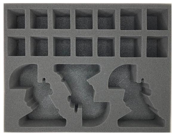 (Adeptus Mechanicus) 3 Sydonian Dragoon 14 Sicarian Infiltrator Foam Tray (BFL-3)