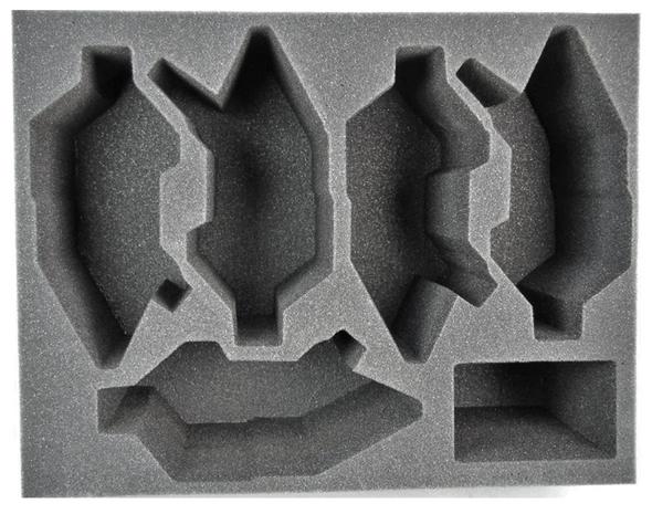 (Dark Eldar) 5 NEW Dark Eldar Raider Foam Tray (BFL-6)