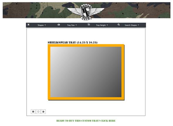 (Custom) Custom Foam Tray for the Shield/Spear Bag (GW)