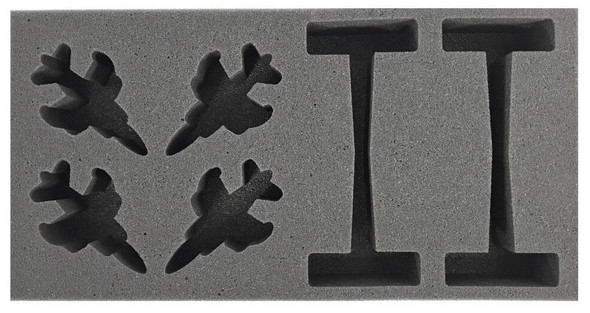 (Team Yankee) Flames of War British Harriers Foam Tray (BFM-2)