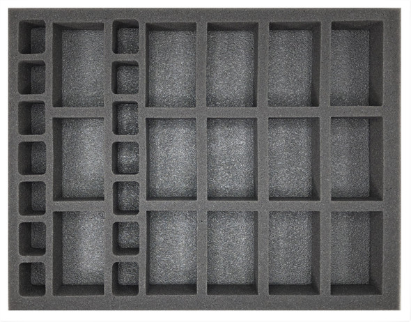 (Gen) Flames of War 15 Artillery 14 Support Foam Tray (BFL-1.5)