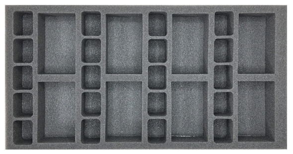 (Gen) Flames of War 8 Artillery 20 Support Foam Tray (BFM-1.5)