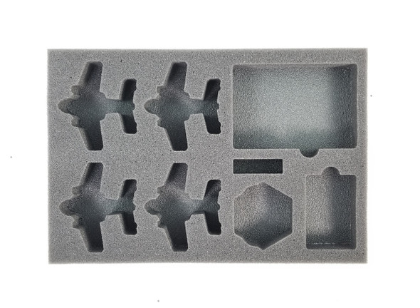 (Aeronautica Imperialis) Fighta Bommerz Foam Tray with Unassembled Flight Stands (BFS-1)