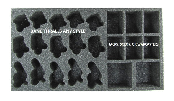 (Cryx) Cryx Bane Thralls Troop Foam Tray (PP-2.5)