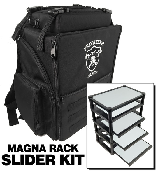 Privateer Press Backpack Magna Rack Slider Load Out (Black)