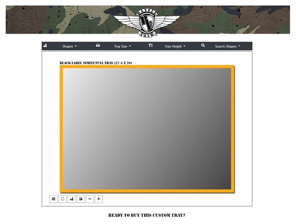 (Custom) Custom Black Label Nimitz Full Foam Tray (NMF)