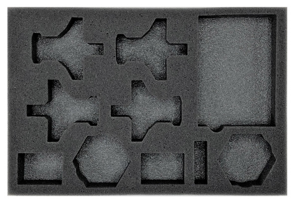 (Aeronautica Imperialis) Valkyrie Assault Carriers Foam Tray with Unassembled Flight Stands (BFS-1)