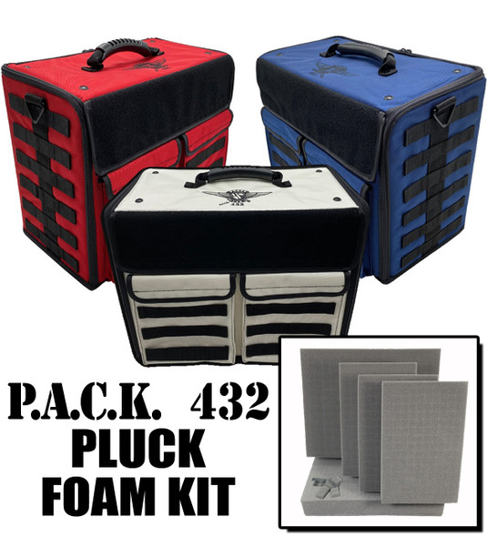 (432) P.A.C.K. 432 Molle Horizontal Pluck Foam Load Out