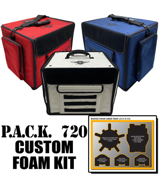 (720) P.A.C.K. 720 Molle Half Tray Custom Load Out