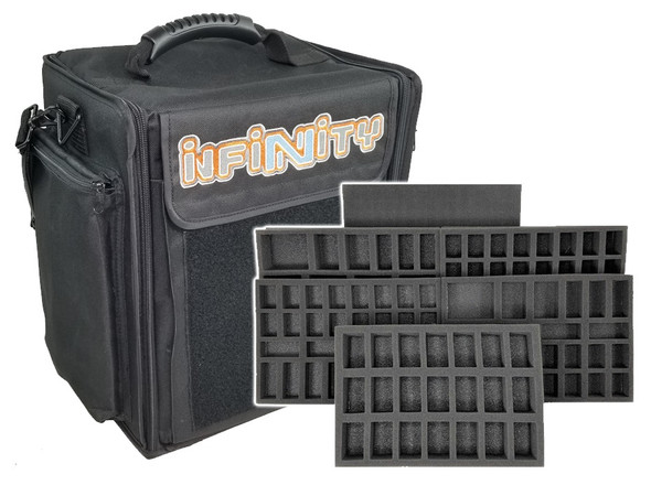 Infinity Beta Bag Standard Load Out Battle Foam This bag is made with a grey canvas material. infinity beta bag standard load out