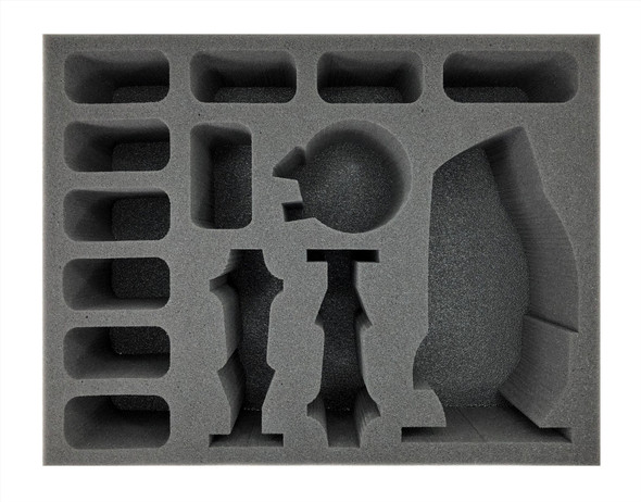 (Necron) Szarekh, The Silent King and Triarch Praetorians Foam Tray (BFL-4)