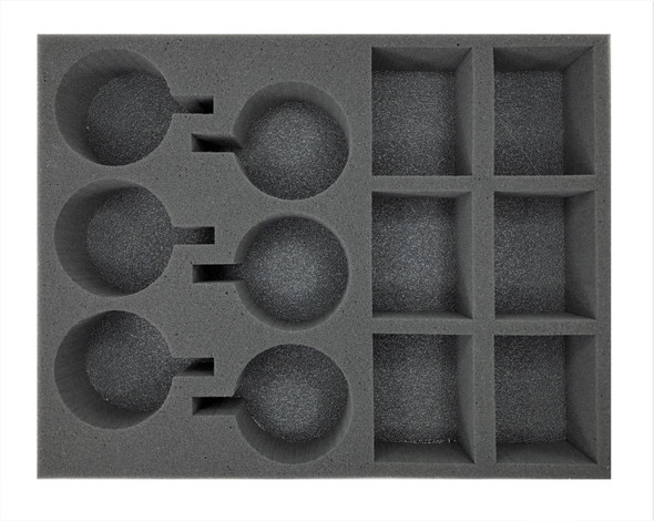 (Space Marine) 6 Primaris Firestrike Servo-Turret 6 Invader ATV Foam Tray (BFL-2.5)