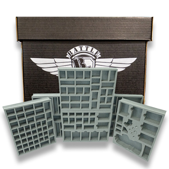 Battle Foam Large Stacker Box Marvel United Complete Kickstarter Load Out (Black)
