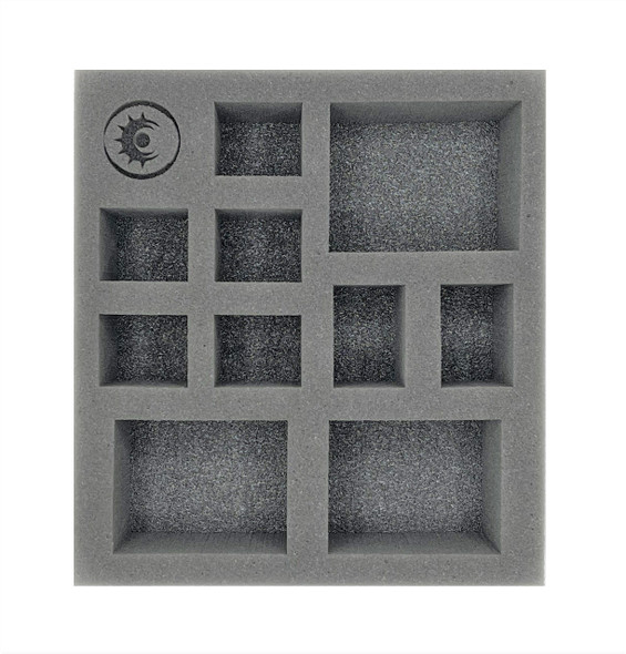 (Warcaster) The Iron Star Alliance Command Group Half Foam Tray (PP.5-2.5)