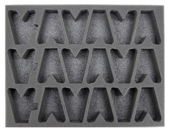 (Dark Eldar) 18 Dark Eldar Scourges Foam Tray (BFL-1.5)
