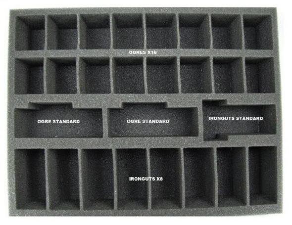 Ogre Kingdom Core Troop Foam Tray (BFL-2.5)