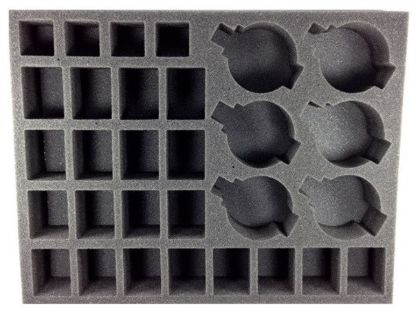 (30K) 24 Heavy Support 6 Rapier Batteries with Bases Foam Tray (BFL-2.5)