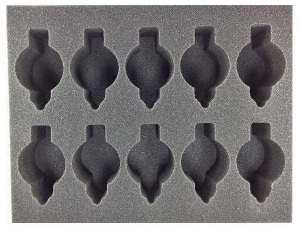 (30K) 10 Scimitar Pattern Jetbike Foam Tray (BFL-3)